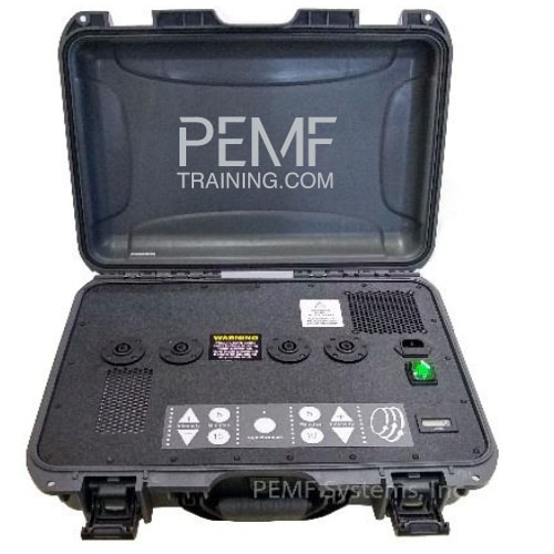 PMT DUO suitcase PEMF device from PEMF training